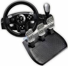 joystick volante volante thrustmaster rally gt ffb pedais para ps3 pc