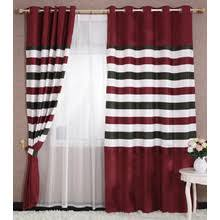 red bedroom curtains red stripe curtains