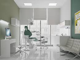 dental clinic digital art interior design minimalist style