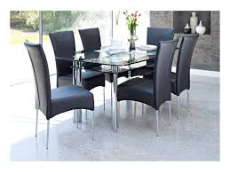 Glass Dining Room Furniture Sets Black Glass Dining Room Table And Chairs Alliancemv Com