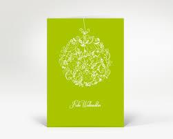 designer weihnachtskarte weihnachtskarte floralkugel hellgr n designer weihnachtskarte