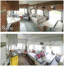 rv renovation ideas before and after fifth wheel renovation 188sqft