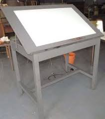 Lighted Drafting Table Drawing Table With Lightbox Clipartxtras