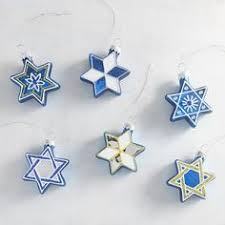 mini of david ornament gift hanukkah gift
