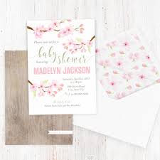 cherry blossom baby shower invitations zone romande decoration