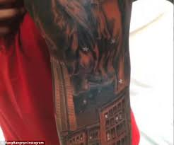 thierry henry shows off new york themed tattoo daily mail online