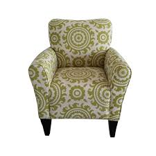 Floral Accent Chair Adeco Green Floral Accent Chair With Birch Wood Legs Single Ch0252