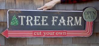 tree farm cut your own christmas tree sign theholidaybarn com