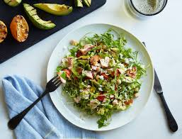grilled salmon and avocado chopped salad goop