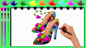 coloring pages barbie shoes drawing pages to color for kids by