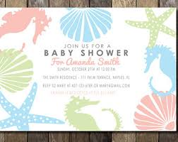 the sea baby shower invitations theme baby shower invitations tropical baby shower