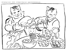 thanksgiving feast coloring pages exprimartdesign com