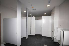 custom designed ceiling hung restroom partitions for sale