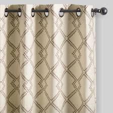 Lattice Design Curtains Mocha Brown Lattice Cotton Curtains Set Of 2 World Market