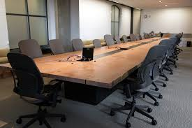 Quill Conference Table White Meeting Table Chene Interiors