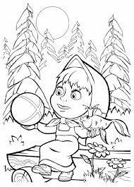 tales coloring masha and the bear russian fairy tale