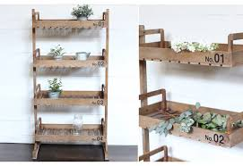 Distressed Wood Bookcase Bookcase Wooden Book Shelf Box Shelf Four Tier 4 Tier Rustic