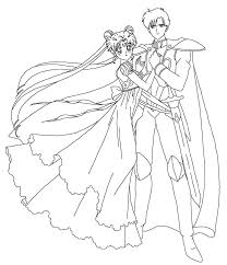 serenity and endymion coloring page by sailortwilight on deviantart