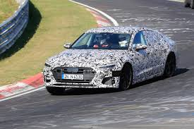 new 2018 audi s7 spotted at the nurburgring auto express