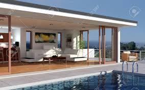 Haus Mit Garten Kaufen Garten Terrasse Lizenzfreie Vektorgrafiken Kaufen 123rf