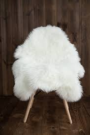 fur chair cover sheepskin faux fur chair cover rug seat pad area rugs for