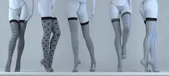 stockings 3d cgtrader