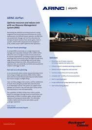 Resource Management Spreadsheet Resource Management Reduce Airport Congestion Arinc Airports
