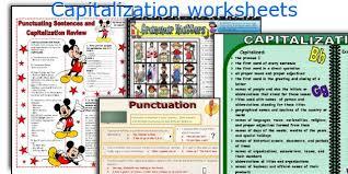 english teaching worksheets capitalization