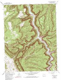 Gateway Colorado Map by Juanita Arch Topographic Map Co Usgs Topo Quad 38108e8