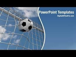 soccer goal powerpoint template backgrounds digitalofficepro