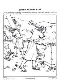 king josiah coloring page to print 4723