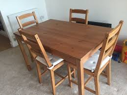 ikea jokkmokk solid pine dining table and 4 chairs with 8 chair