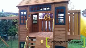 exterior oak wood frame cedar summit playset for appealing