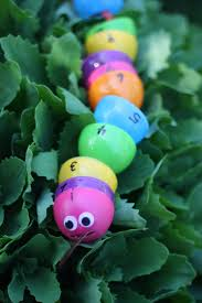 number snake threading made with plastic eggs i can teach my