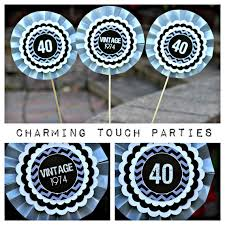 black and silver 40th birthday party decorations image