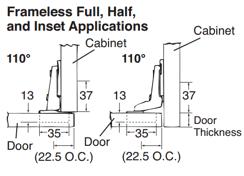 full overlay cabinet hinges cabinetry gap for frameless full overlay hinged doors