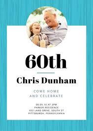 60th birthday invitation templates canva