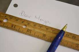pen writing on paper tips on writing on unlined paper our everyday life use a ruler