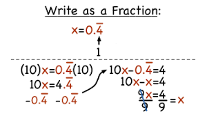 how do you change recurring decimals into fractions how to