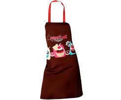 tablier de cuisine pas cher tablier de cuisine taille l imprimé gourmand cupcakes marron 1827