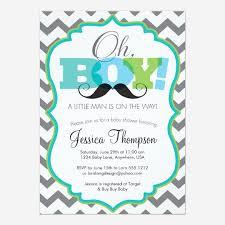 custom mustache baby shower invitation invites templates