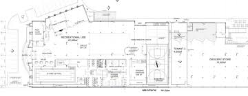 la fitness floor plan drawings for the organic garage and la fitness at 43 junction rd