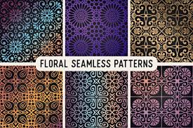 ethnic floral seamless pattern abstract ornamental pattern vector