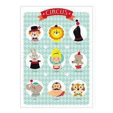 poster chambre bebe zü affiche circus décoration chambre enfant