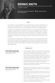 Room Attendant Resume Example by Food And Beverage Manager Resume Samples Visualcv Resume Samples