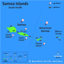 map samoa map of the islands showing hotel locations