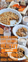 baked carrot cake oatmeal healthy dairy free high protein high