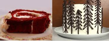 holiday red velvet roll and black forest cakes made easy with