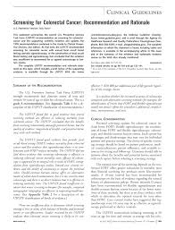 how to write recommendations in a research paper screening for colorectal cancer recommendation and rationale screening for colorectal cancer recommendation and rationale annals of internal medicine american college of physicians