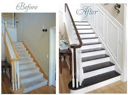 how to refinish stairs before and after house projects entry